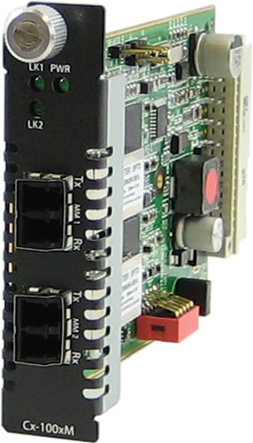 CM-1000M Gigabit Fiber to Fiber Managed Media Converter Module